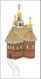 Igreja ortodoxo do país Fotos de Stock Royalty Free