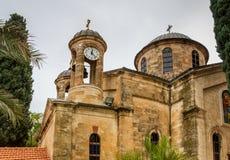 A igreja ortodoxo grega do casamento de Cana, Israel foto de stock royalty free