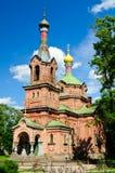 Igreja ortodoxo russo no kuldiga Fotos de Stock Royalty Free