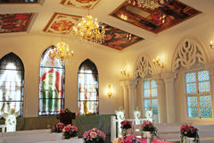 Igreja para dentro. Fotografia de Stock