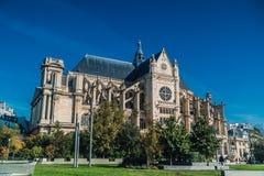 Igreja Paris de Saint-Eustache foto de stock
