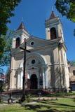 Igreja paroquial em Jozefow, Polônia Fotos de Stock