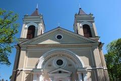 Igreja paroquial em Jozefow, Polônia Foto de Stock Royalty Free