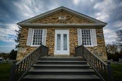Igreja presbiteriana do bosque do pinho, na montagem pairosa, Maryland imagens de stock royalty free