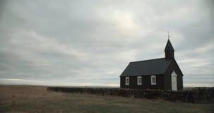 Igreja preta de Budir, Islândia fotografia de stock