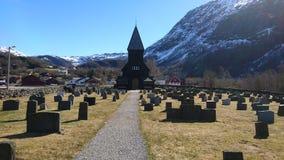 Igreja preta velha Imagem de Stock Royalty Free