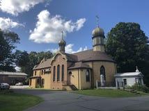 Igreja principal do seminário de Tikhon de Saint imagens de stock royalty free