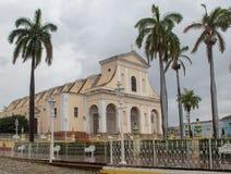 A igreja principal em Trinidad, Cuba fotografia de stock
