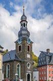 Igreja protestante em Monschau, Alemanha Fotos de Stock Royalty Free