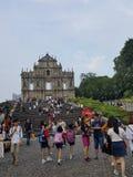 Igreja quebrada Macau Fotografia de Stock