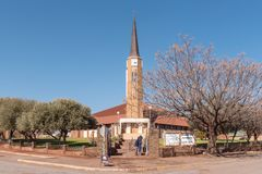 Igreja reformada Dutch em Postmasburg Imagens de Stock