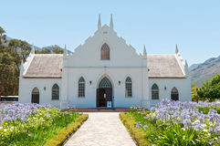 Igreja reformada Dutch, Franschoek Fotos de Stock Royalty Free