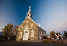 Igreja - região de Chaudière-Appalaches de Quebeque fotografia de stock royalty free