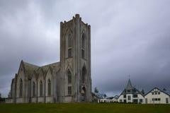 Igreja Reykjavik de Landakotskirkja imagens de stock royalty free