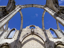 Igreja robi Carmo ruinom w Lisbon zdjęcie royalty free