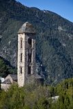 Igreja romanic de Sant Miquel, Andorra imagem de stock