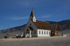 Igreja rural em Montana Fotografia de Stock Royalty Free