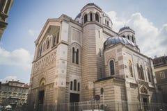 Igreja Sérvia Ortodoxa - igreja sérvio de Ortodoxian Foto de Stock Royalty Free
