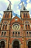 Igreja Saigon de Notre-Dame Balisca Fotografia de Stock Royalty Free