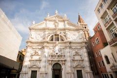 Igreja San Moise em Veneza Italy imagens de stock
