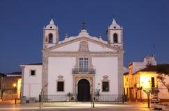 Igreja Santa Maria. Lagos, Portugal. Church Igreja Santa Maria at dusk. Lagos, Algarve Portugal Royalty Free Stock Images