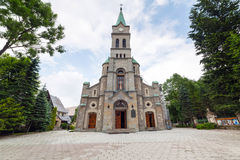 Igreja santamente da família em Zakopane Foto de Stock