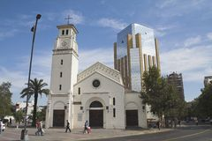 Igreja - Santiago faz o Chile Fotos de Stock Royalty Free