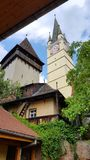 Igreja saxona fortificada nos meios Fotos de Stock
