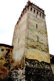 Igreja saxona medieval fortificada Codlea, o maior na região histórica de Burzenland, a Transilvânia, Romênia imagem de stock royalty free