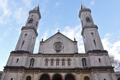 Igreja St Louis, Munich fotos de stock royalty free