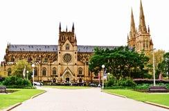 Igreja Sydney da catedral do St Marys Imagens de Stock Royalty Free