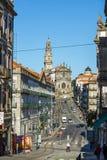 Igreja and tower dos Clerigos. Porto. Portugal. Stock Photography