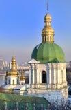 Igreja transversal santamente da igreja em Kiev Lavra Foto de Stock