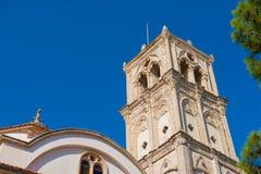 A igreja transversal santamente Vila de Lefkara, distrito de Larnaca chipre Fotos de Stock Royalty Free