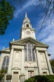 Igreja unitária no providência Rhode - ilha Fotografia de Stock