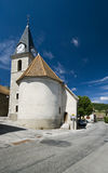 Igreja velha com torre de pulso de disparo Foto de Stock