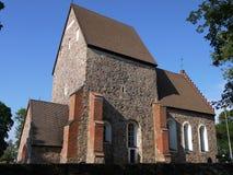 A igreja velha construiu o ontop de Viking Temple antigo Imagem de Stock