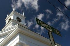 Igreja velha da baleação - Edgartown Fotografia de Stock Royalty Free