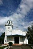 Igreja velha da borda da estrada Fotos de Stock Royalty Free