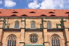 Igreja velha da cidade de Bayreuth Imagens de Stock