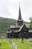 Igreja velha da pauta musical em Lom, Noruega Imagem de Stock Royalty Free