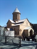Igreja velha de Geórgia Tbilisi Sioni imagens de stock royalty free