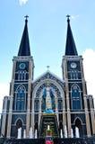 Igreja velha de Roman Catholic Christianity em Tailândia. imagens de stock