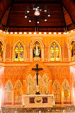 Igreja velha de Roman Catholic Christianity em Tailândia. imagens de stock royalty free