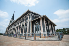 Igreja velha de Roman Catholic Christianity na província do chantaburi imagens de stock