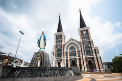 Igreja velha de Roman Catholic Christianity na província do chantaburi fotos de stock royalty free