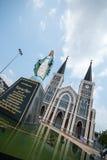 Igreja velha de Roman Catholic Christianity na província do chantaburi foto de stock