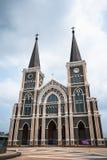 Igreja velha de Roman Catholic Christianity na província do chantaburi fotos de stock