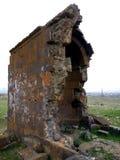 Igreja velha de Zoravar em Armênia Fotografia de Stock Royalty Free
