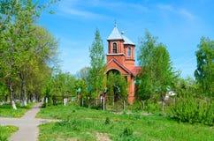 Igreja velha do crente da suposição do Virgin abençoado, Polotsk, Bielorrússia foto de stock royalty free